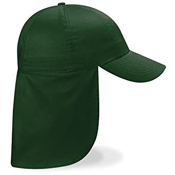 CHILDRENS LEGIONNAIRE HAT CAP 100% COTTON - 9 COLOURS (BOTTLE GREEN)