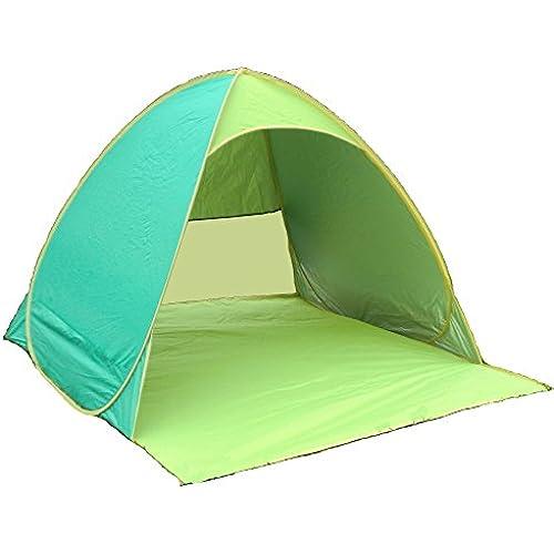(Aofit)원터치 텐트 썬쉐이드 텐트 UV자외선 컷 팦업 텐트 간단하게 갑자기 설치 할 수 있는 조립 불요 콤팩트 경량 접이식 아웃도어【2-3명 타입 4-5명 용타입 7컬러】