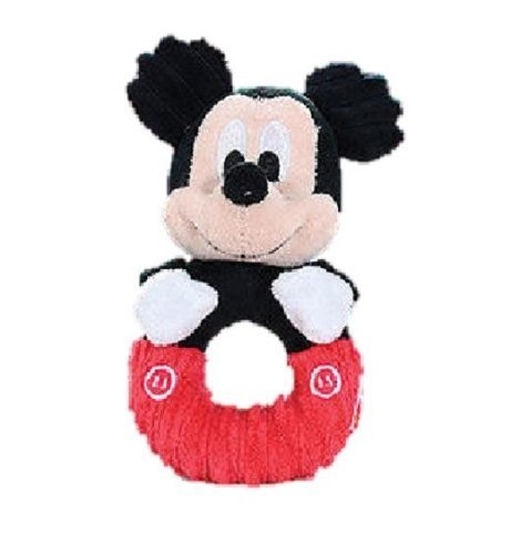 """Disney Mickey Mouse Cord Baby 6"""" Ring Rattle by Disney"""