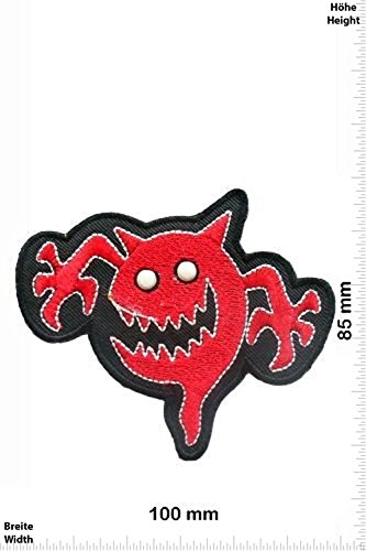 Patch - red Ghost - Fun Patch - Adult - Chaleco - toppa - applicazione - Ricamato termo-adesivo - Give Away