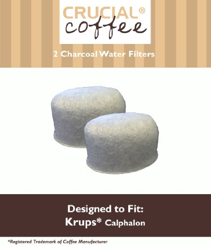 2 Krups Calphalon Style Charcoal Water Filters; Fits All Calphalon Coffeemakers; Designed & Engineered by Crucial Coffee
