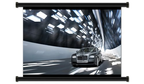 Rolls Royce Ghost Fabric Wall Scroll Poster (32