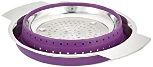 Rosle 16127 10-Inch Collapsible Colander, Purple
