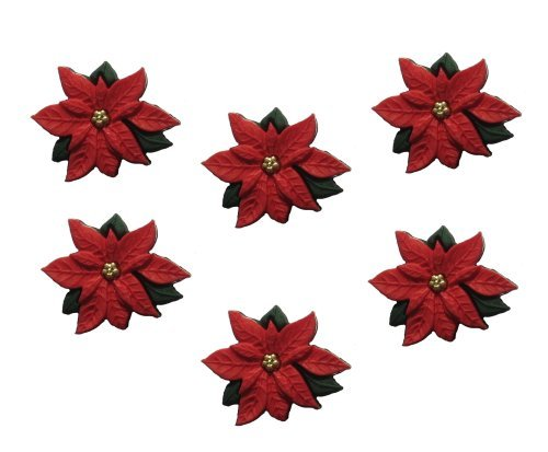 Dress It Up 2951 Red Poinsettias Embellishment