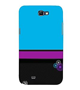 Classic Color Design 3D Hard Polycarbonate Designer Back Case Cover for Samsung Galaxy Note 2 :: Samsung Galaxy Note 2 N7100