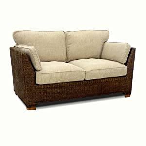 wicker sofa brown conservatory furniture cushioned. Black Bedroom Furniture Sets. Home Design Ideas