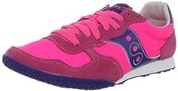 Saucony Originals Women\'s Bullet Running Shoe,Pink/Navy,7.5 M US