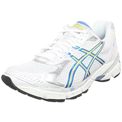 ASICS Women's GEL-1160 Running Shoe,White/French Blue/Lemon,11 2A US