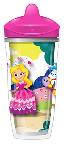 Playtex Sipsters Stage 3 Insulated Spout Sippy Cups for Girls - 9 Ounce - 2 Count (Playtex Spill Proof Cup compare prices)
