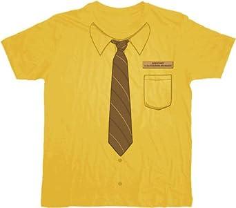 The Office Dwight Neck-Tie Work Shirt Mustard T-shirt Tee Large