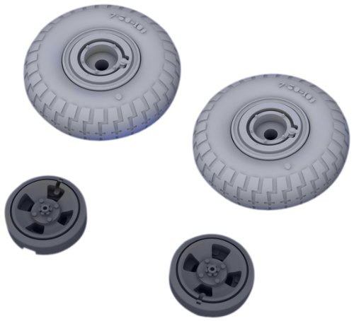 Eduard Models Spitfire Wheels 4 Spoke Pattern Brassin Model Kit