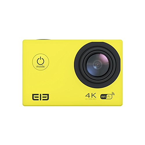 Elephone ELE CAM Explorer WiFi Sports Action Video Cameras Waterproof 16MP 4K 1080P 64GB 170 Degree Wide Angle Lens H.264 HDMI Output Shockproof Outdoor Camcorder Car DVR Ultra HD 2.0-inch LCD(Yellow)