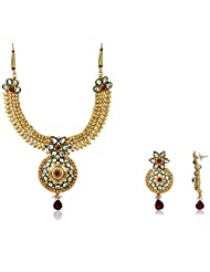 Ava Jewellery Set For Women (Gold) (S-VS-J327)
