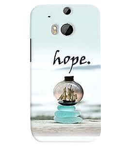 Fuson Premium Hope Printed Hard Plastic Back Case Cover for HTC One M8