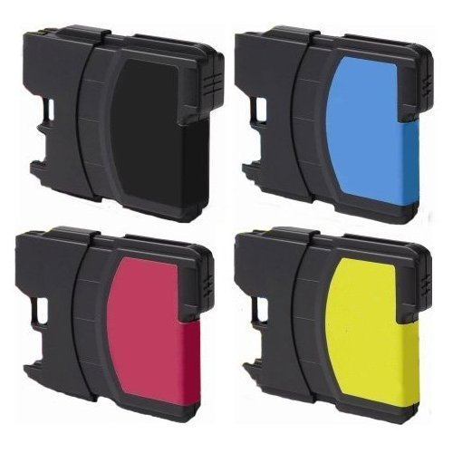 10 Pack Of Non-OEM LC61 Ink Cartridges (4Blk