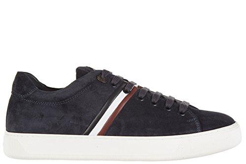 Moncler scarpe sneakers uomo camoscio nuove blu EU 41 A2 09A 1007000