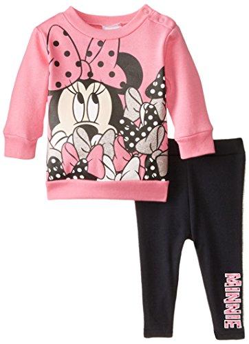 Disney Baby Girls'  Minnie Mouse Fleece Set, Sugar Plum, 3 Months