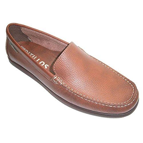 Mocassino Smooth tipo di scarpa pala Pitillos marrone medio taille 43