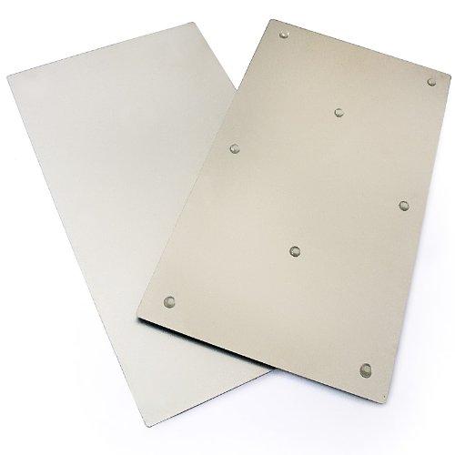 Plaque protection inox pour cuisine - Plaque inox brosse pour cuisine ...