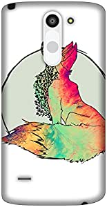 The Racoon Grip Foxy Vixen hard plastic printed back case / cover for LG G3 Stylus