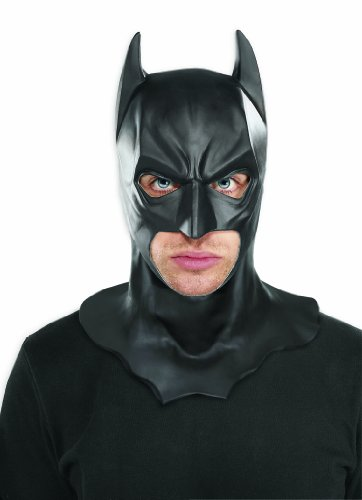 Batman The Dark Knight Rises Full Batman Mask, Black, One Size (Batgirl Cowl Mask compare prices)