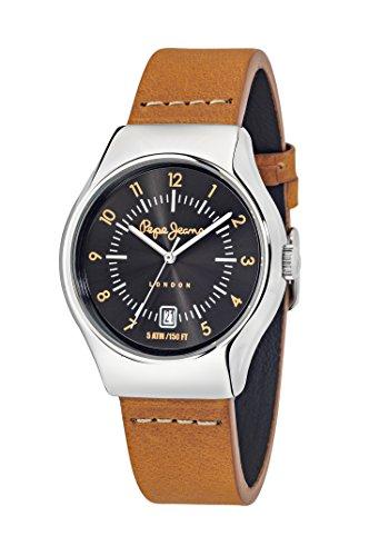 Pepe Jeans Joey orologio al quarzo da uomo con display analogico e cinturino in pelle beige R2351113004