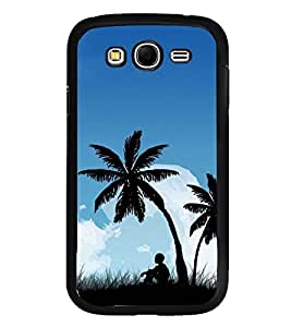 Fuson Premium 2D Back Case Cover Boy under tree With Multi Background Degined For Samsung Galaxy Grand Neo Plus::Samsung Galaxy Grand Neo Plus i9060i