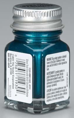 Testors Enamel Paint Open Stock .25oz-Teal Gloss