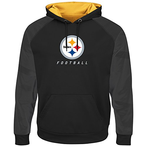 Pittsburgh Steelers Armor 2 Majestic Thermabase Pullover Hooded Sweatshirt XX-Large