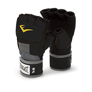 Everlast EverGel Hand Wraps (Black, Large)