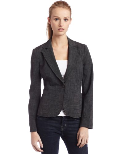 Rafaella Womens Fitted Blazer, Black Combo, 8