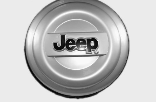 97 06 Jeep Wrangler TJ Or 07 12 Wrangler JK 02 07 Liberty Hard Tire Cover  Silver Details