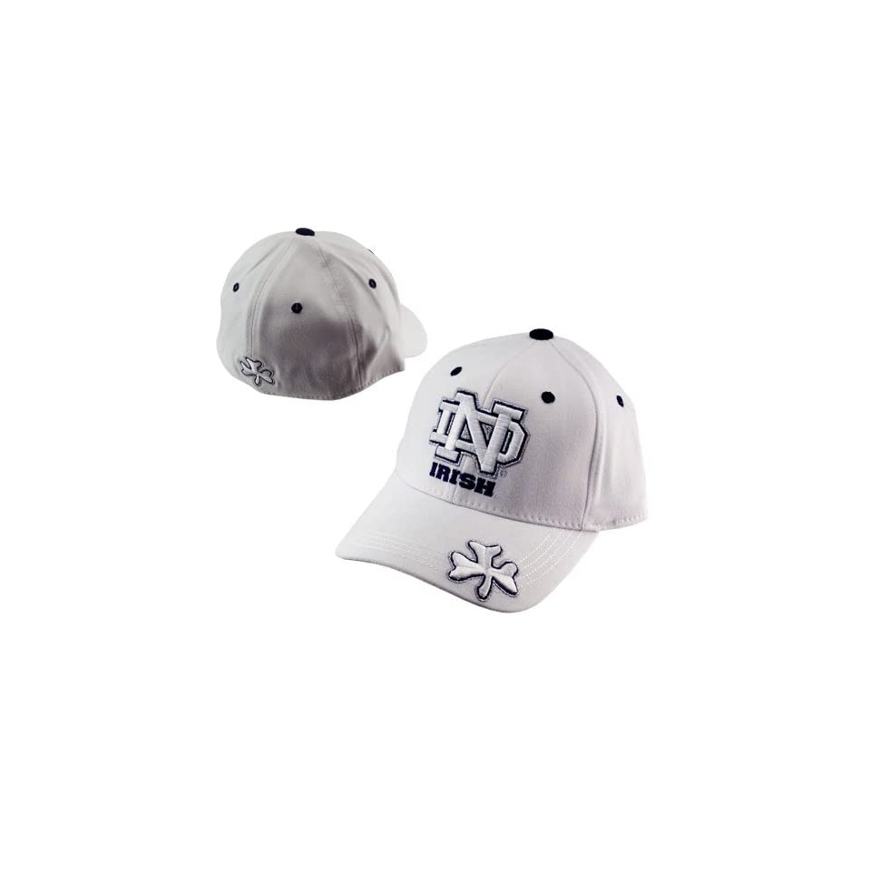 Top of the World Notre Dame Fighting Irish White Double Floss 1Fit Hat
