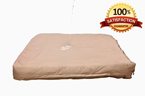 """Waterproof Dog Bed Liner (Tan, Medium 27""""X36"""") Removable Washable Cover 100% Satisfaction Guaranteed"""