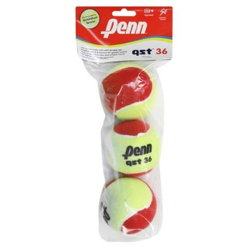 PENN QST 36 Felt Tennis Ball in Polybag (3 Ball) - 1