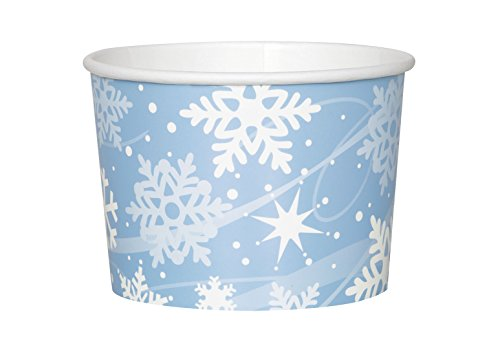 Holiday Snowflake Paper Ice Cream Cups, 8ct