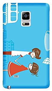 TrilMil Printed Designer Mobile Case Back Cover For Samsung Galaxy Note 4