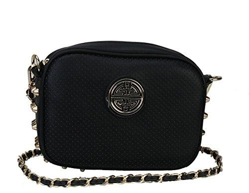 diophy-womens-fashion-zipper-closure-studded-mental-chain-cross-body-handbag-bh-2059-black