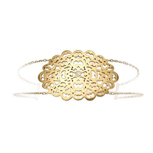 Parure Lace Yellow Vermeil Bracelet With Diamond - Parure Paris