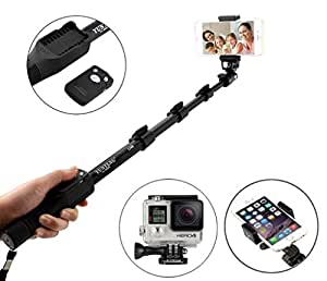 New Selfie Monopod Yunteng 1288 Selfie stick with Bluetooth Remote Shutter Portable Handheld Telescopic Tripod For Samsung Galaxy S4 Mini Plus