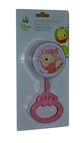Disney Winnie the Pooh Baby Rattle (Pink)