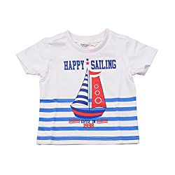 BOYS NAUTICAL PRINTED T-SHIRT WHITE