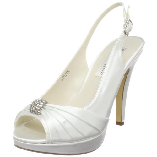 Coloriffics Women's Avalon Slingback Pump,White,7 M US