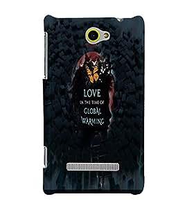 PrintVisa Romantic Love Global warming 3D Hard Polycarbonate Designer Back Case Cover for HTC Windows Phone 8