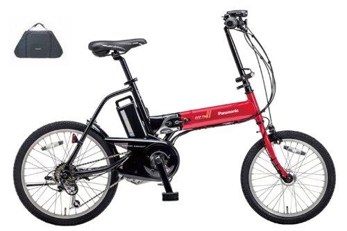 2014年モデル Panasonic【パナソニック】 OFF Time【オフタイム】 折り畳み電動自転車 BE-ENW076 +純正輪行バッグ NAR059 (レッド×ブラック(R2))