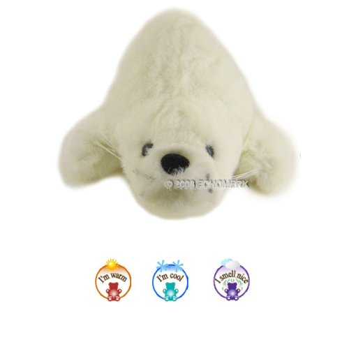 Aroma White Seal-Aromatherapy Stuffed Animal-Hot And Cold Therapy
