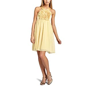 Amazon.com: Maggy London Women's Flower Ruffle Front Y Neck Babydoll Dress: Clothing from amazon.com