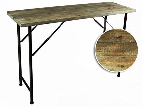 Konsolentisch-Tisch-Beistelltisch-Konsole-Telefontisch-HolzMetall-120cm-Vintage