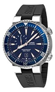 Oris Men's 64376098555RS TT1 Diver Blue Guilloche Small Seconds Dial Watch by Oris
