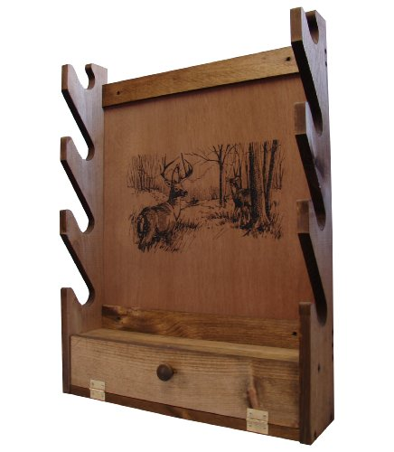 Evans Sports Gun Rack with Storage Compartment, Deer Picture